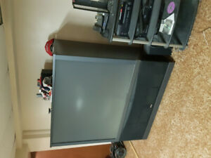 Large 60 inch projection TV.