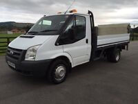 Ford transit 115 t350 mwb 12ft drop side w taillift, 2010(60) reg, 1 co owner, fsh, in white