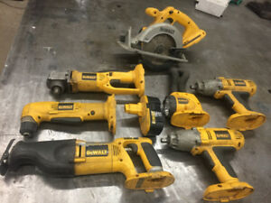 assorted dewalt 18v tool