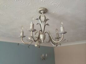 Living Room Light fittings - Main with 2 matching wall fittings