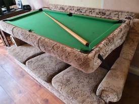 Pool table sofa