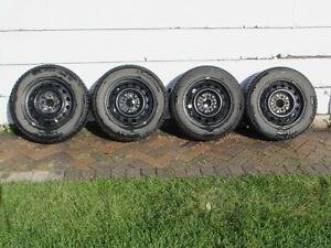 4 - Winter Tires and Rims Michelin X - Ice 2 91T -  195/65R15
