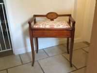 Piano or dressing table stool