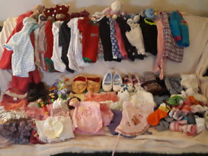 112 Pc. Girl's Clothing & Toy Lot Size 3-18 months