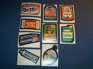 LOT OF 9 O-PEE-CHEE WACKY PACKAGES STICKERS-SAILEM-DAMPERS+
