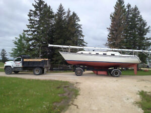 36 ft Hunter sailboat