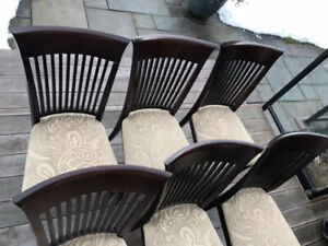 Diningroom chairs set of 8 chair on good preowned  condition