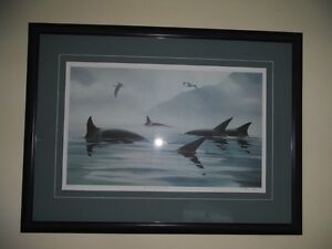 """Masters of The Inlet"" Killer Whales Lithograph by Bruce Muir 41 Sarnia Sarnia Area image 1"