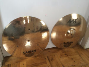 "SABIAN AAX Fast Hats 14"" Bonne Condition Cymbale Hi-hat"