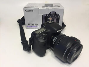 Canon 7D with 15-85mm EFS IS USM Lens with Box