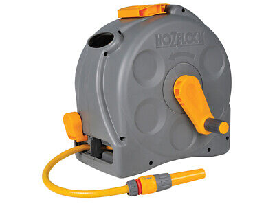 Hozelock 2415 25m 2-in-1 Compact Hose Reel + 25m of Starter Hose 2415R0000