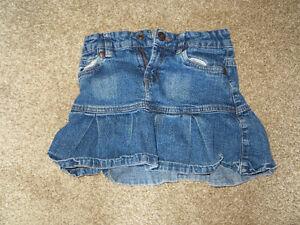 Girls size 6 denim skirt