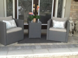Resin Wicker 3 piece Patio/Porch Set