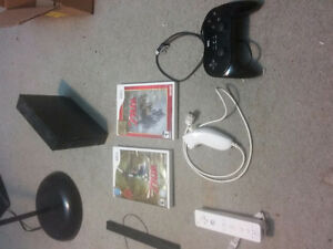 Wii Console + Games and Controllers