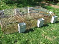 Cage a Lapin 6 compartiment + 6 mangeoire big  + 6 buvette auto