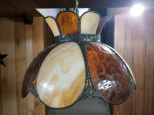 Stained glass kitchen light