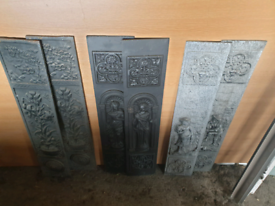 Fire place inserts cast iron and granite