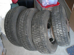 4 Apache 8.75 x 16.5 radial tires.