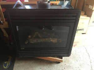 "Montego propane fireplace insert  38"" LIKE NEW"