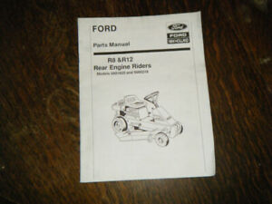 Ford R8 & R12 Rear Engine Riders Parts Manual