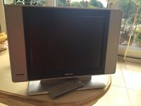 """Philips 15"""" TV with remote"""