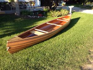 Handmade Cedar Strip Canoe