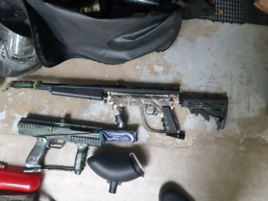 Paintball Set (Tippman 98 w flatline, SP1 & amazing Dye mask)