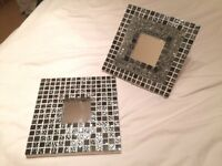"Hand made customised mirrors 10"" x 10"" set of 2"