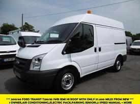 2010 FORD TRANSIT T280/85 SWB MEDIUM ROOF WITH 57.000 MILES,AIRCON,ELECTRIC PACK