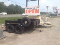 "2 Ton - NEW PAINT + NEW TIRES - 74"" X 9' ft Trailer"