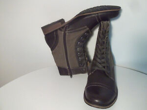 BOOTS, NEW GUESS LEATHER / CANVAS WATER RESiSTANT Size 12