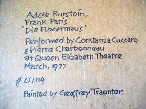 Opera, 'Die Fledermaus' by Geoffrey Traunter, Constanza Cuccaro Stratford Kitchener Area image 10