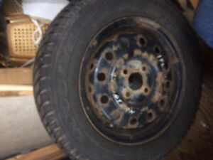 4 Goodyear Ultra Grip Ice with rims Stratford Kitchener Area image 1