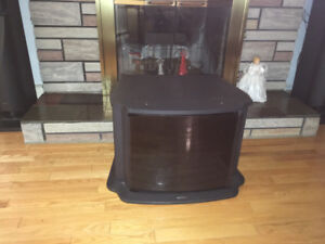 T.V stand with stoeage area for Reciever, DVD player etc
