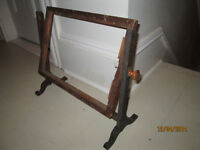 Antique Needlepoint Frame