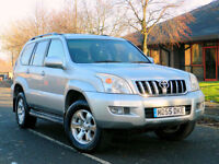 2005 55 Toyota Land Cruiser 3.0 D-4D LC4 5dr WITH 1 OWNR+FSH+NAV+LEATHER+SUNROOF