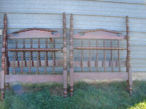 Great Opportunity, Pair of Antique Twin Spool Beds