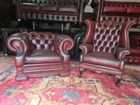 Delbrook Chesterfield Chairs Queen Anne & Club