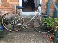 1950s vintage Raleigh silhouette bicycle.