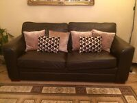 Great brown leather sofa bed - excellent condition SW1 Pimlico