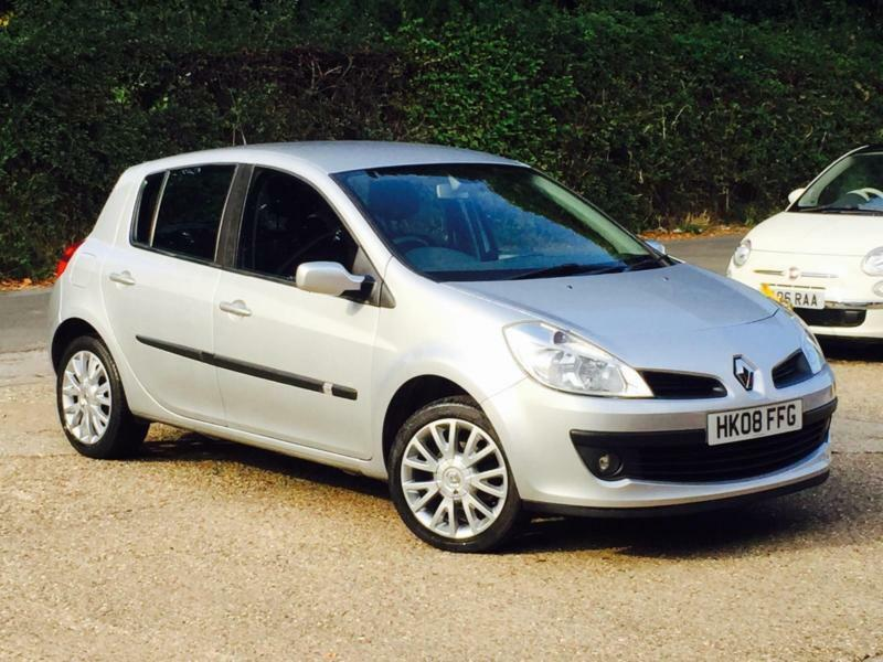 2008 renault clio 1 2t turbo 16v 100 tce dynamique 5 door silver 69k miles fsh in high wycombe. Black Bedroom Furniture Sets. Home Design Ideas