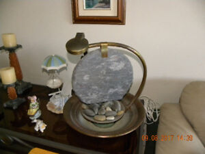 MOONSTONE WATERFALL WITH ACCENT DIMMER LAMP