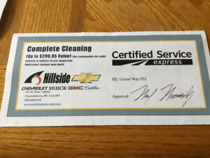Car / truck detailing certificate **REDUCED**