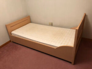 Single Bed (frame, mattress and spring set) - used