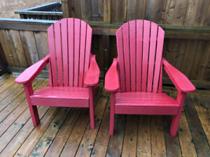 Adirondack patio chairs by Berlin Garden ( 2 chairs)