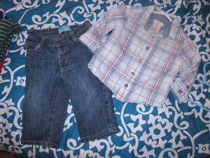 6/12, 12 mth boys clothes LOT 16 MORE ADDED