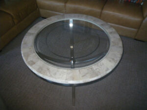 Round Coffee Table + (x2) End Tables