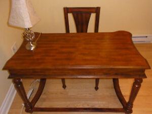 Gorgeous Solid-Wood Desk and Chair Set