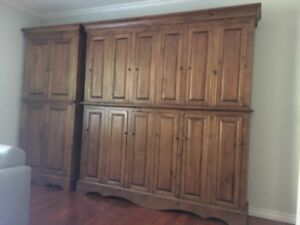 *~* Gorgeous Rustic Pine Custom Made Cabinetry *~*