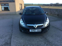 2007 07 Vauxhall Corsa 1.7CDTI 16v SXi Diesel 3 Door Black MOT March 2018.